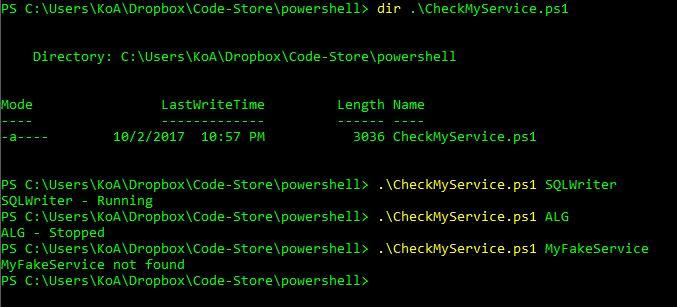 check windows version using powershell
